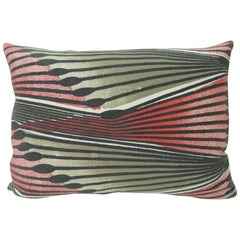 Vintage Red and Grey Modern Swedish Decorative Bolster Pillow