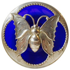Unusual Art Deco Butterfly Potpourri Bowl, France, 1920s