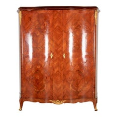 Marquetry Two-Door Armoire Made in France
