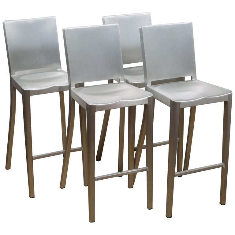 Emeco Hudson Bar Stools by Philippe Starck For Sale