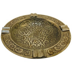 Middle Eastern Syrian Handcrafted Silver Plated Ashtray