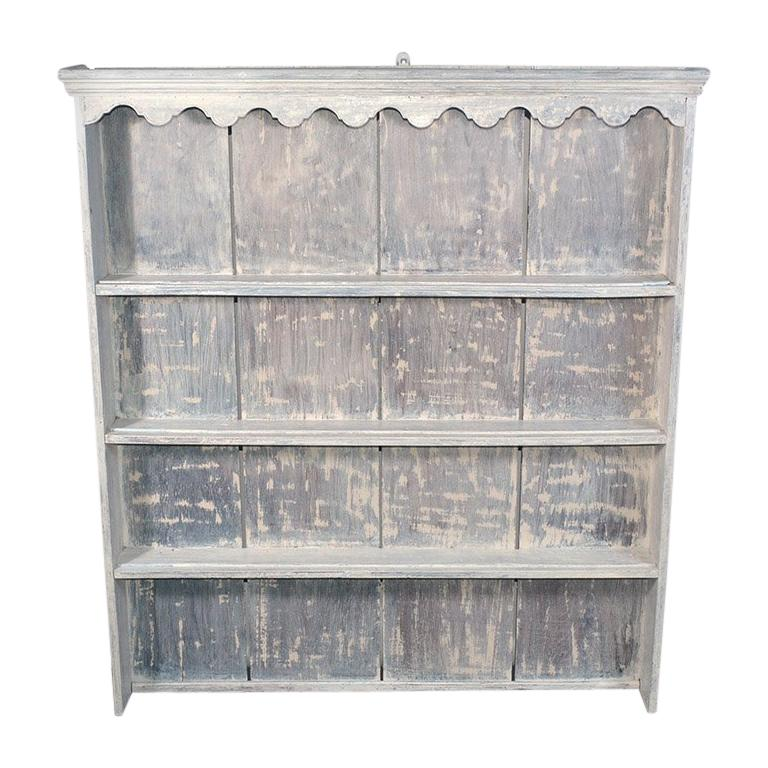 Rustic Country Style Plate Rack or Hutch For Sale