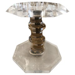 Vintage Swirled Lucite Dining Center Game Table Base