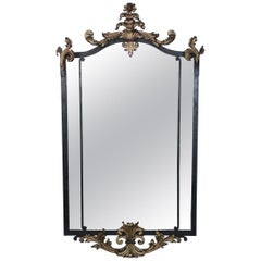 Ornate Chippendale Style Tole Metal Frame Mirror