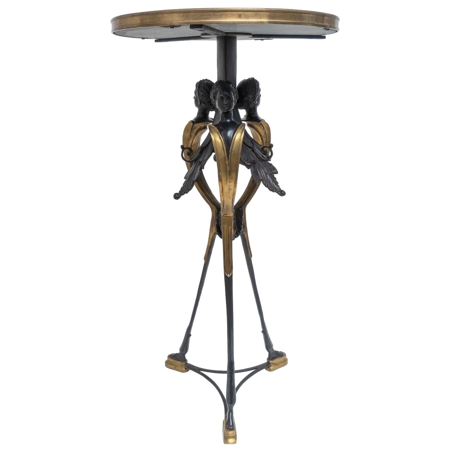 Neoclassical Bronze Gueridon Table by Maitland Smith
