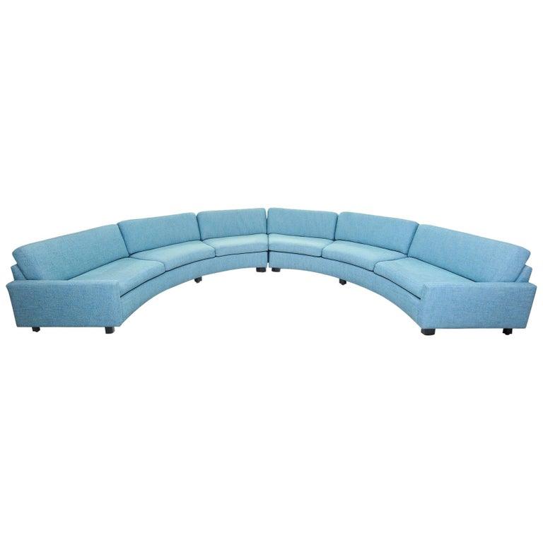Milo Baughman Semi-Circular Sectional Sofa for Thayer Coggin