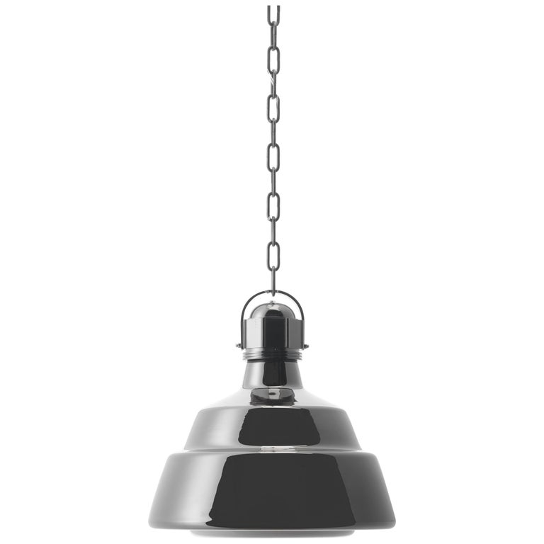 Foscarini Small Glas Suspension Lamp in Chrome by Diesel For Sale