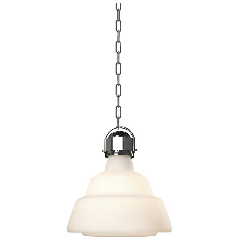 Foscarini Large Glas Suspension Lamp in White by Diesel For Sale