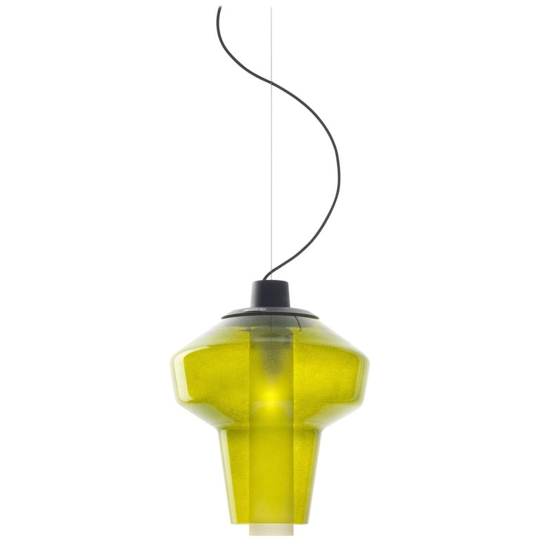 Foscarini Metal Glass 2 Suspension Lamp in Green by Diesel For Sale