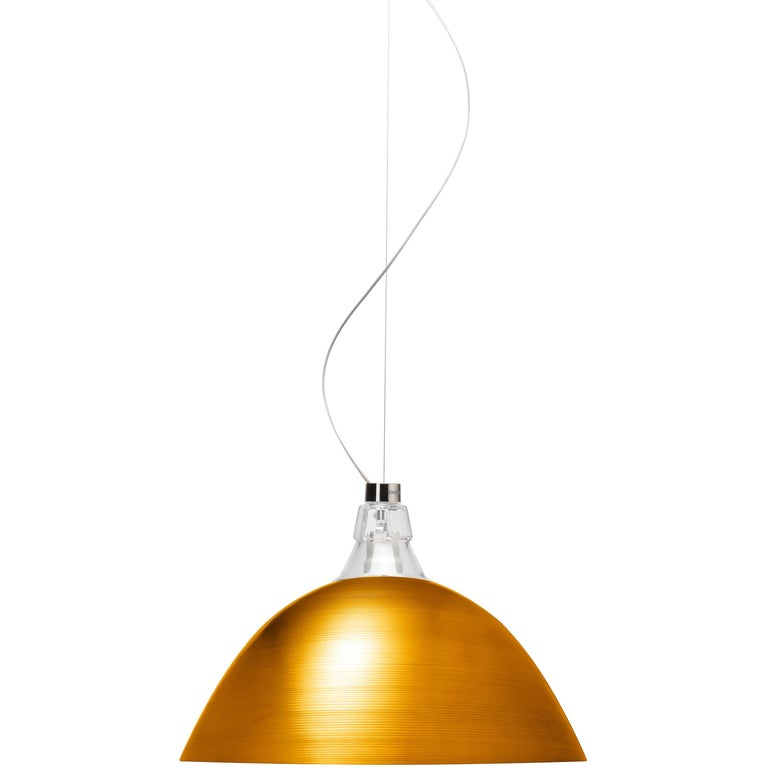 Foscarini Bell Suspension Lamp in Bronze by Diesel For Sale