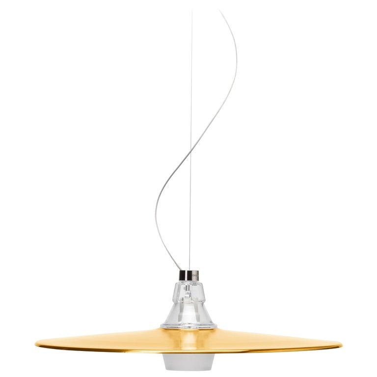 Foscarini Crash Suspension Lamp in Bronze by Diesel For Sale