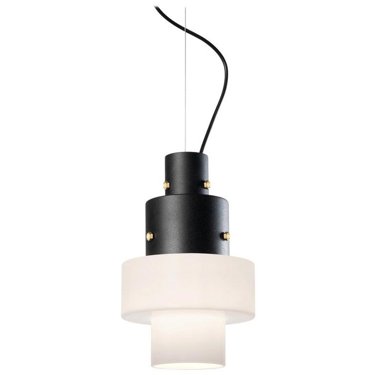 Foscarini Gask Suspension Lamp in Grey by Diesel For Sale