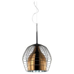 Foscarini Large Cage Suspension Lamp in Brown & Bronze by Diesel