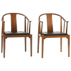 Pair of Hans J. Wegner Chinese Chairs in Walnut