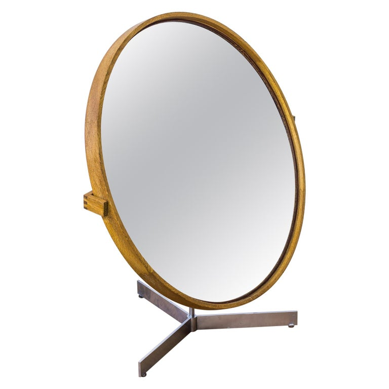 Table Mirror by Uno & Östen Kristiansson for Luxus, Sweden, 1950s For Sale