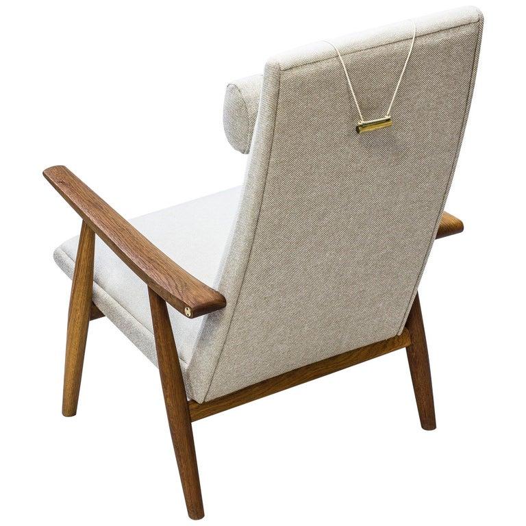 """Easy Chair """"GE-260"""" High Back by Hans J. Wegner, GETAMA, Denmark, 1960s For Sale"""