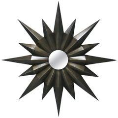 Compass Mirror in Solid Bronze