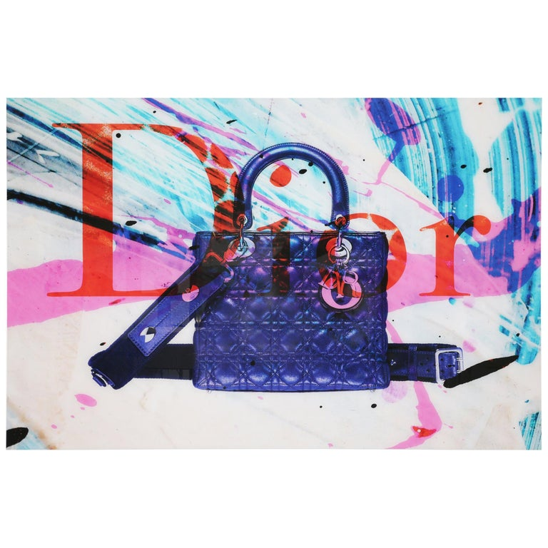 Bag Plexiglass Wall Decoration in the Style of Dior For Sale