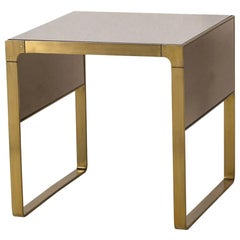 Sturdy Side Table in Satin Brass Finish