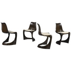 Vintage Brown Plastic Chair by Steen Ostergaard for Cado, 1971s