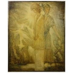 """Dreaming"", Emile Strauven 1980 Flemish Painter"