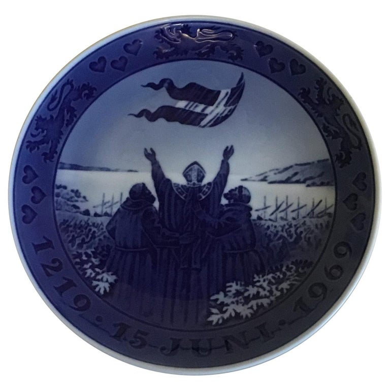 Royal Copenhagen Commemorative Plate from 1969 RC-CM323 For Sale