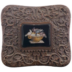 19th Century Italian Micromosaic Square Plaque