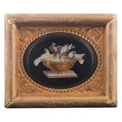 19th Century Italian Micromosaic Oval Plaque