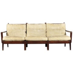 Scandinavian Mahogany Three Seater Sofa,1970s