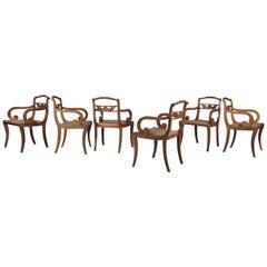 Set of Six English Early 19th Century Regency Mahogany Dining Chairs