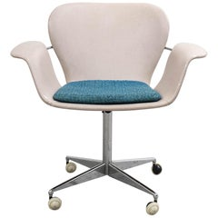 Mid-Century Modern Swivel Office Chair by Kjell Hjell & Bjarne Stave