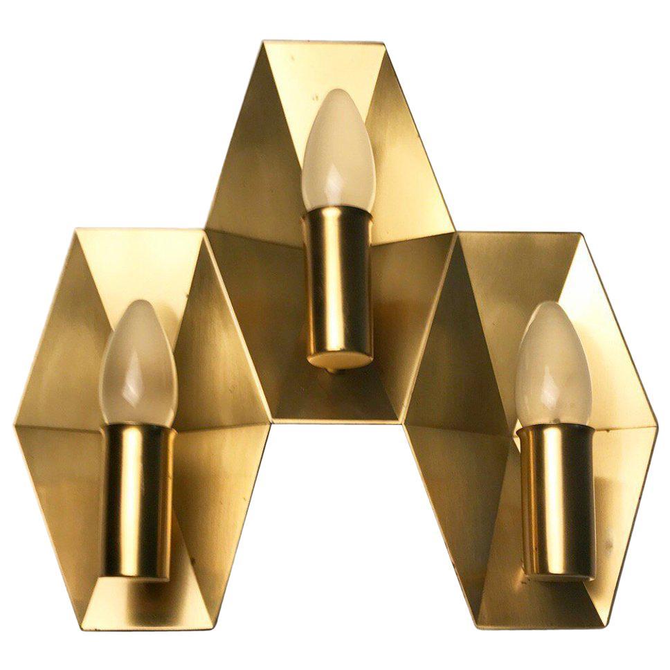 Danish Solid Brass Sconce by Rolf Graae for Fog & Mørup, Denmark, 1950s