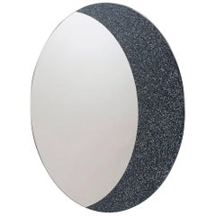 Contemporary Mirror Moon, Round Shape, in Glass, Italy