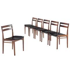 Rosengren Hansen Set of Six Rosewood Dining Chairs