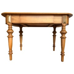 Biedermeier Style Tyrolean Farm Country Dining Table, Early 20th Century