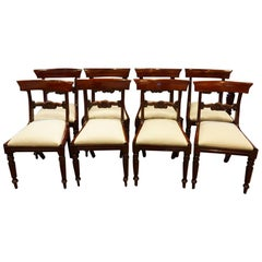 Set of Eight William IV Dining Chairs