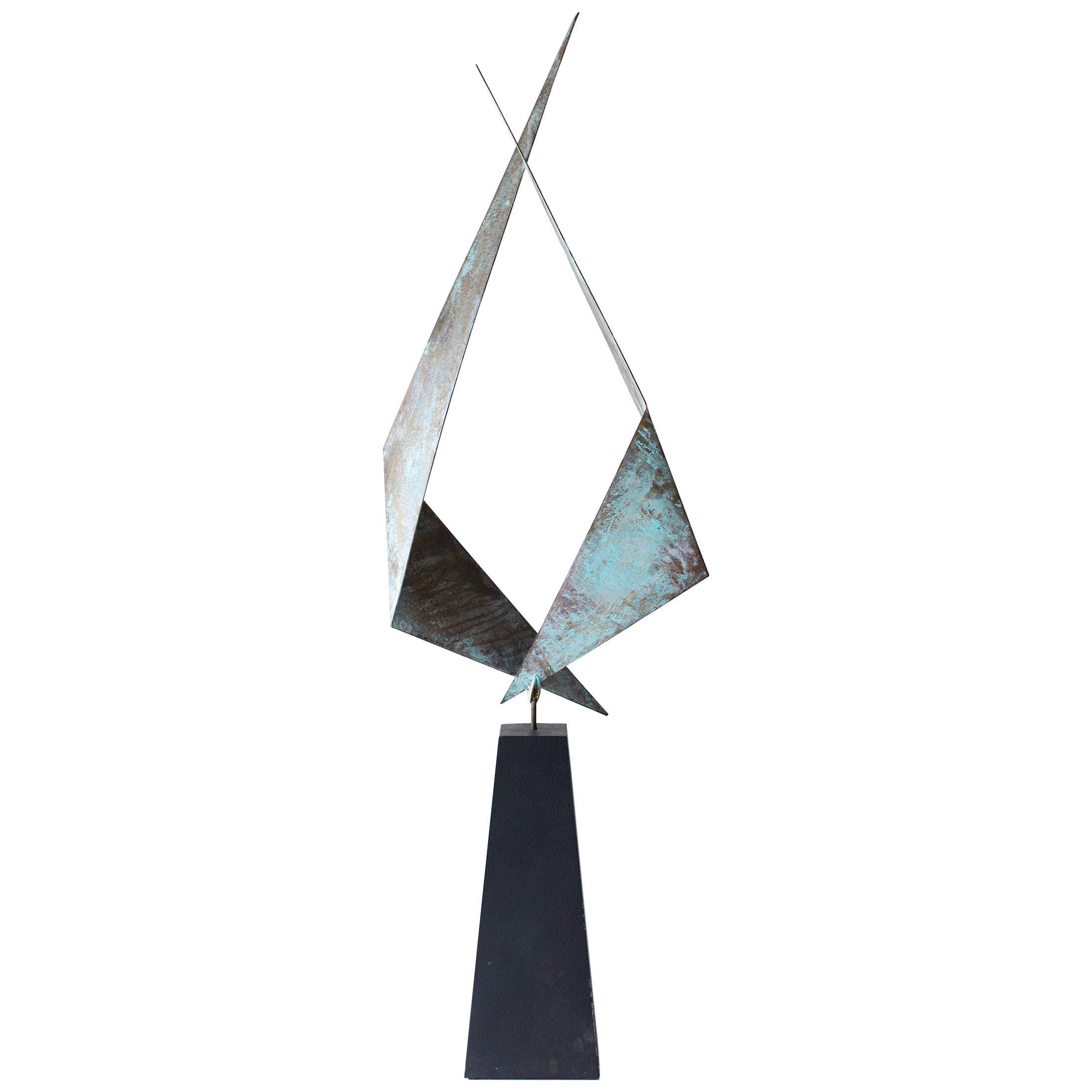 BJ Keith Transcendent Brass Sculpture for C Jere Artisan House