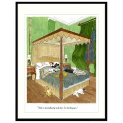 Dogs on the Bed Humorous Dog Print