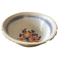 "Bowl ""Brugge"" Bruges 17th Century Pottery"