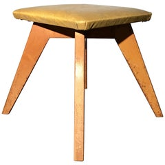 Rare and Early Jens Risom Stool for Knoll Associates, New York City