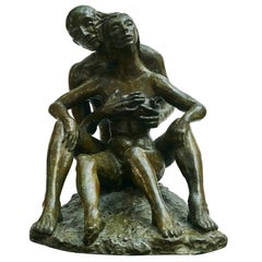 Mogens Bøggild Erotic Couple, Bronze Sculpture