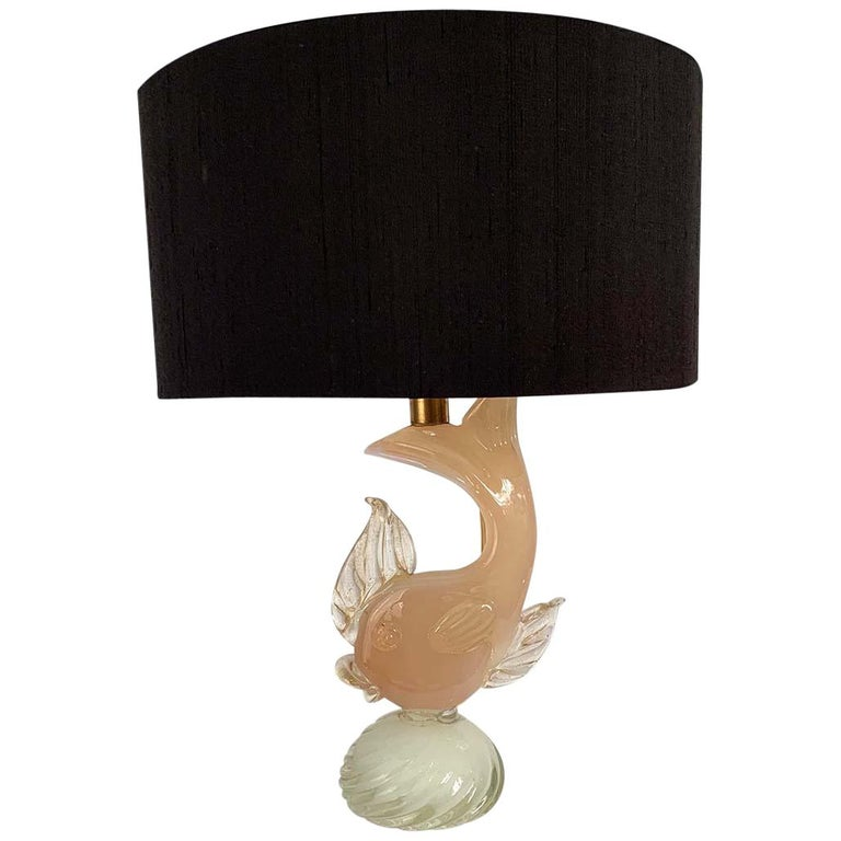 Murano Glass Fish Lamp, 1950s For Sale