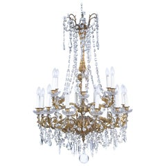 Gilt Bronze Chandelier in the Louis XV Style