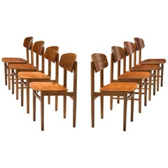 Børge Mogensen Set of Eight Dining Chairs in Teak