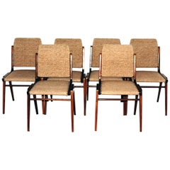Austro Dining Chairs by Wiesner-Hager, 1950s, Set of Six