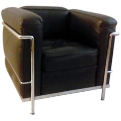 LC2 Leather Lounge Chair by Le Corbusier for Cassina, 1970s