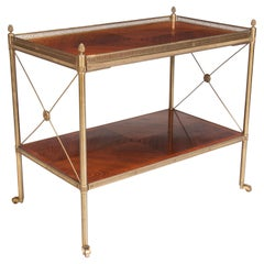 Fine Quality Kingwood and Brass Two-Tier Etagere, circa 1920