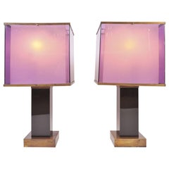 Pair of Large 1970s Table Lamps by Romeo Rega