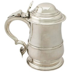 Antique George II Sterling Silver Quart Tankard