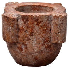Large Red Marble Mortar '18th Century, North Italy'